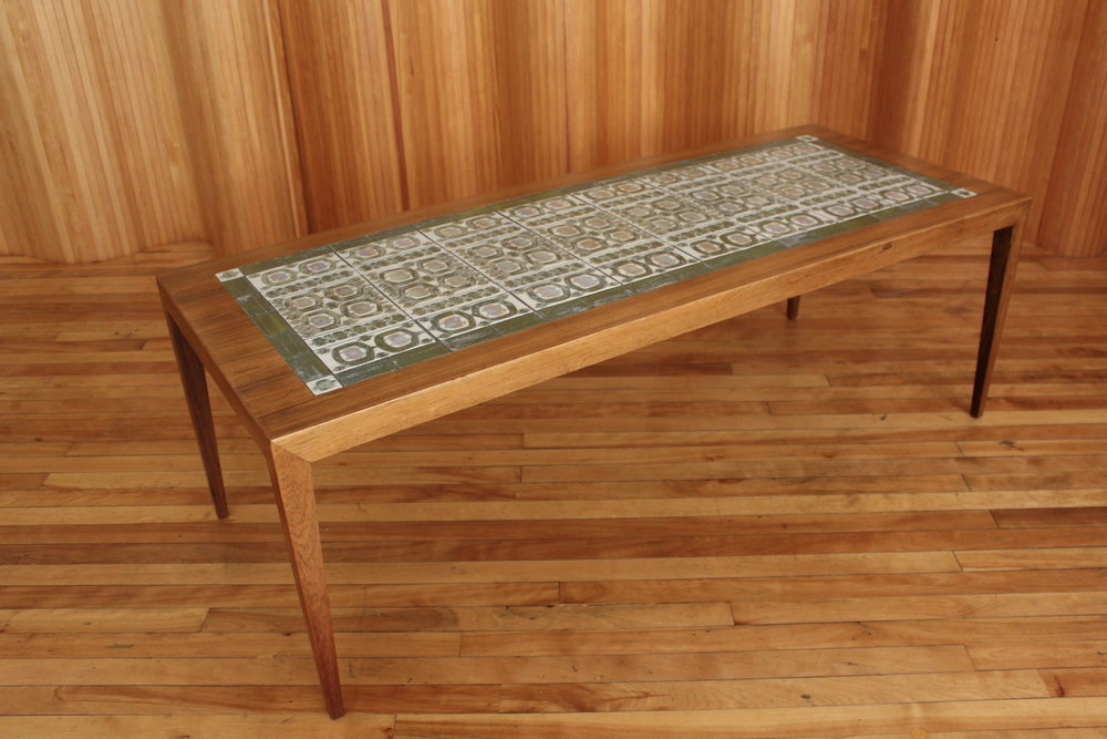 Haslev Royal Copenhagen rosewood coffee table
