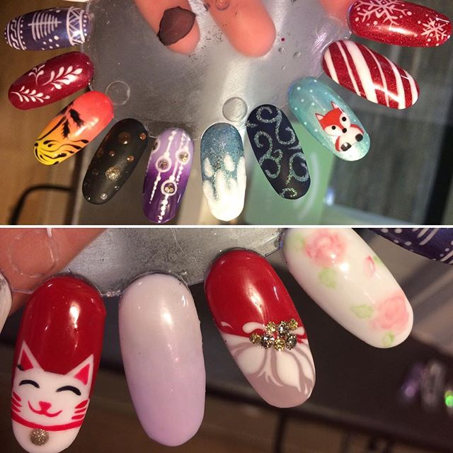 Always more art swatches. Always. If there is no more, something is wrong with me. 💁 #nailart #handpainted #nailswatch