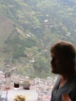 So the cheapest way to eat in Ecuador is Paleo. Sometimes, on a cliff. Developing country, my tush.