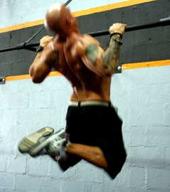 Me doing Chest-to-Bar pull-ups. Yep. That's totally what I look like now.