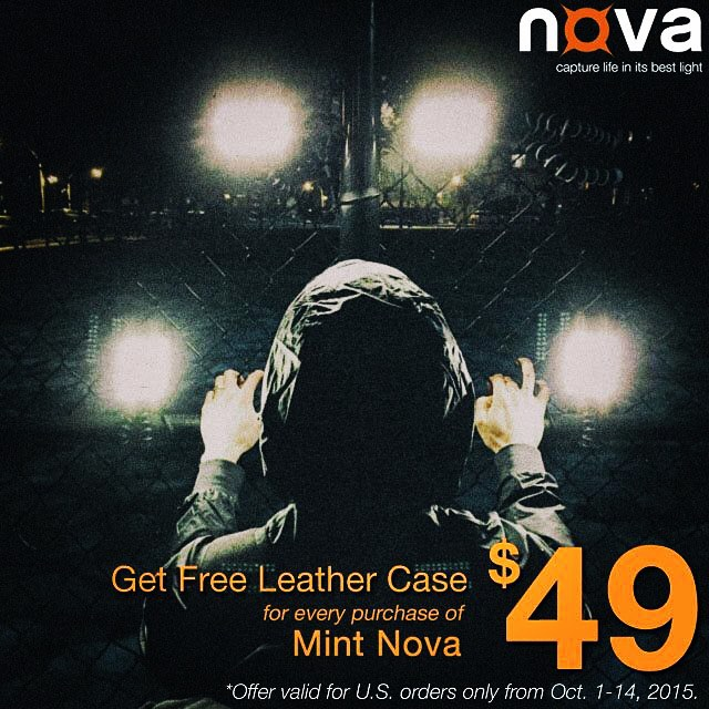 Free leather case with every Mint Nova only $49. Get from novaphotos.com/mint #NovaFlash #iphoneography