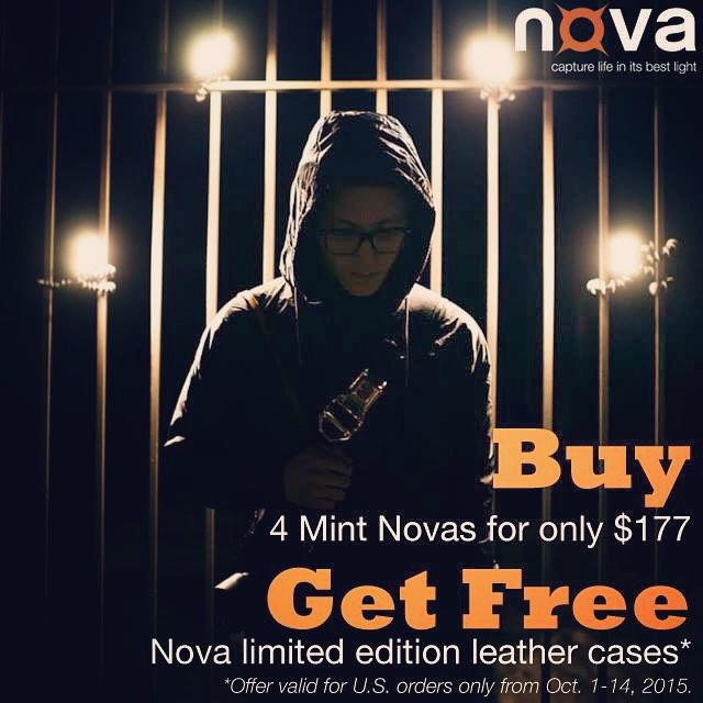 4 Mint Novas with free leather cases only $177. Get it from novaphotos.com/mint #NovaFlash  #iphoneography