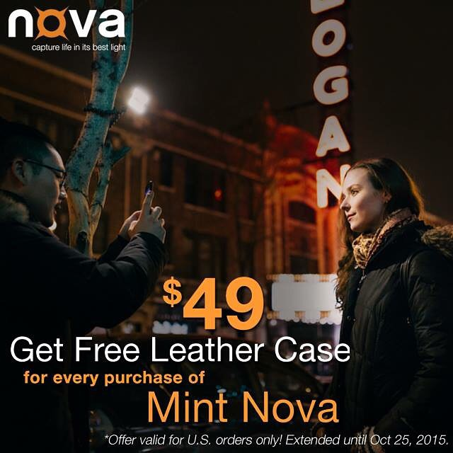 FREE Leather Case for every purchase of Mint Nova has been extended until Oct 25, 2015. Get yours from novaphotos.com/mint #NovaFlash #iphoneography #iphoneonly #iphonesia