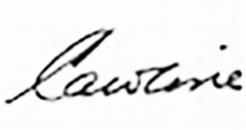 Caroline, Signature