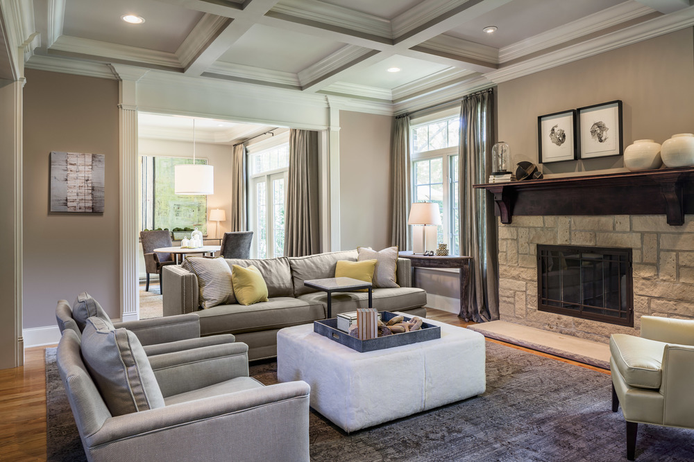 Inviting and Balanced Family Room, EKD Chicago