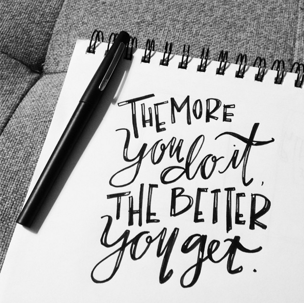 Hand-lettered sketch