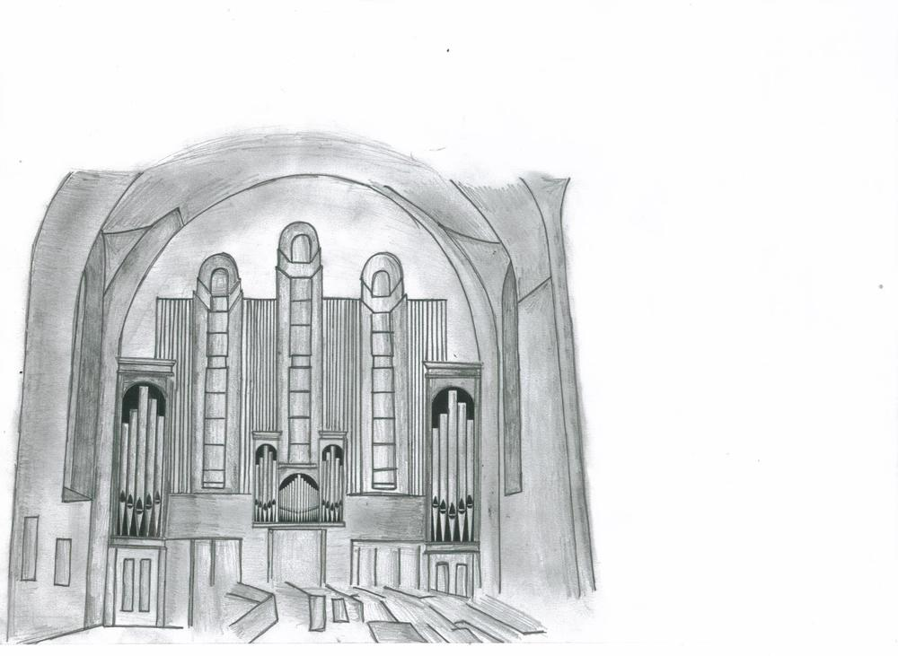 This was our proposal for Corpus Christi, Drumcondra: a transept location. We still got the job.....it is documented elsewhere (under Portfolio) here.