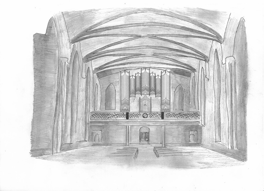 Above, our proposed scheme for Carlow Cathedral.