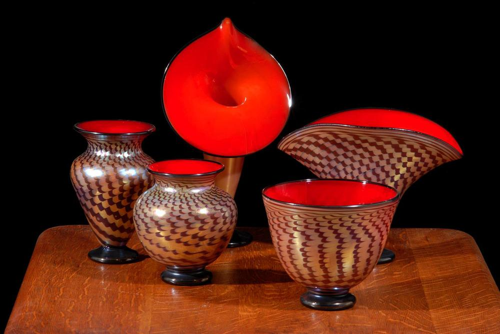 Florentine Cabinet vases Tapa Decoration