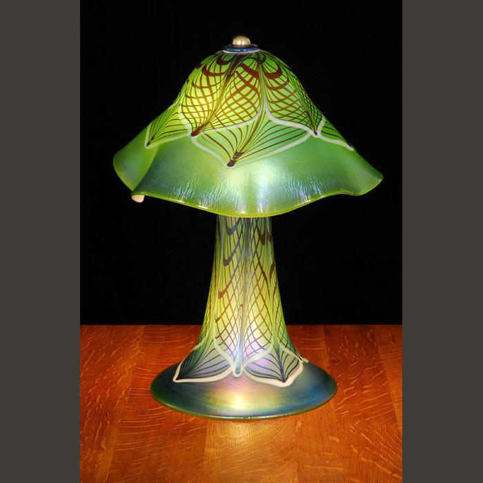 Moss Ruffle Lace Table Lamp