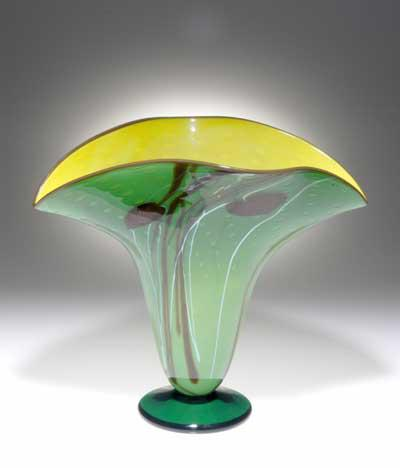 Rainforest Fan vase