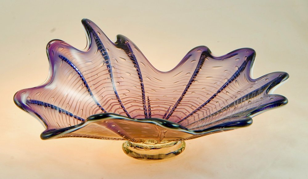 Splash Dish,  Strini Art Glass