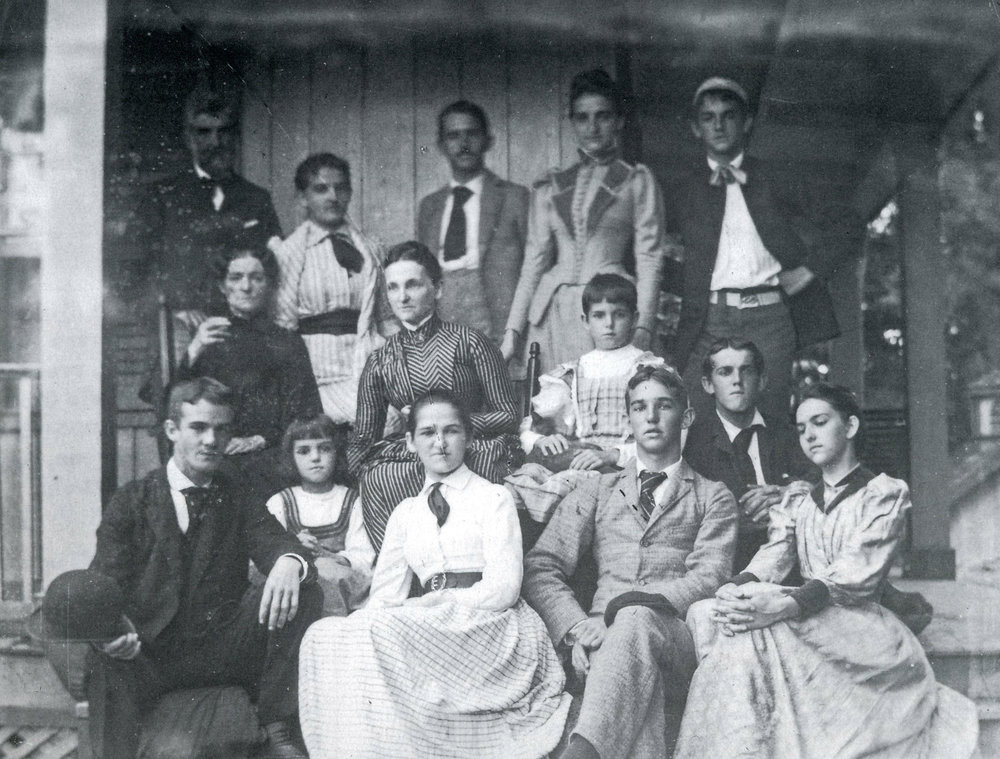 The Mead family, c. 1887. Click to view larger.