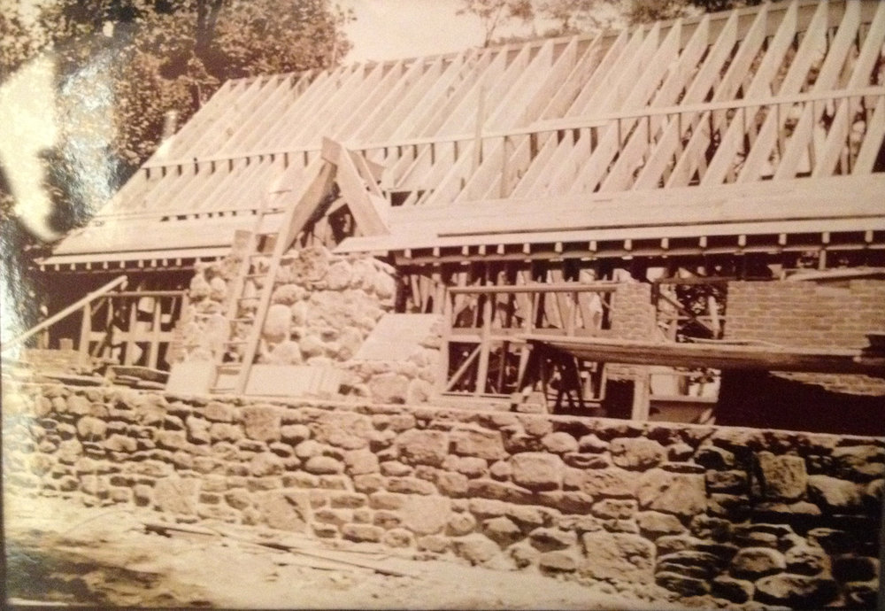 The Gaard House under construction, 1932
