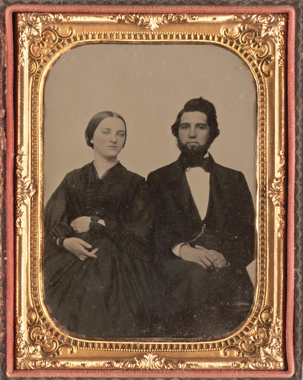 Sarah Frances and George W. Mead, c. 1859 (one year after marriage)