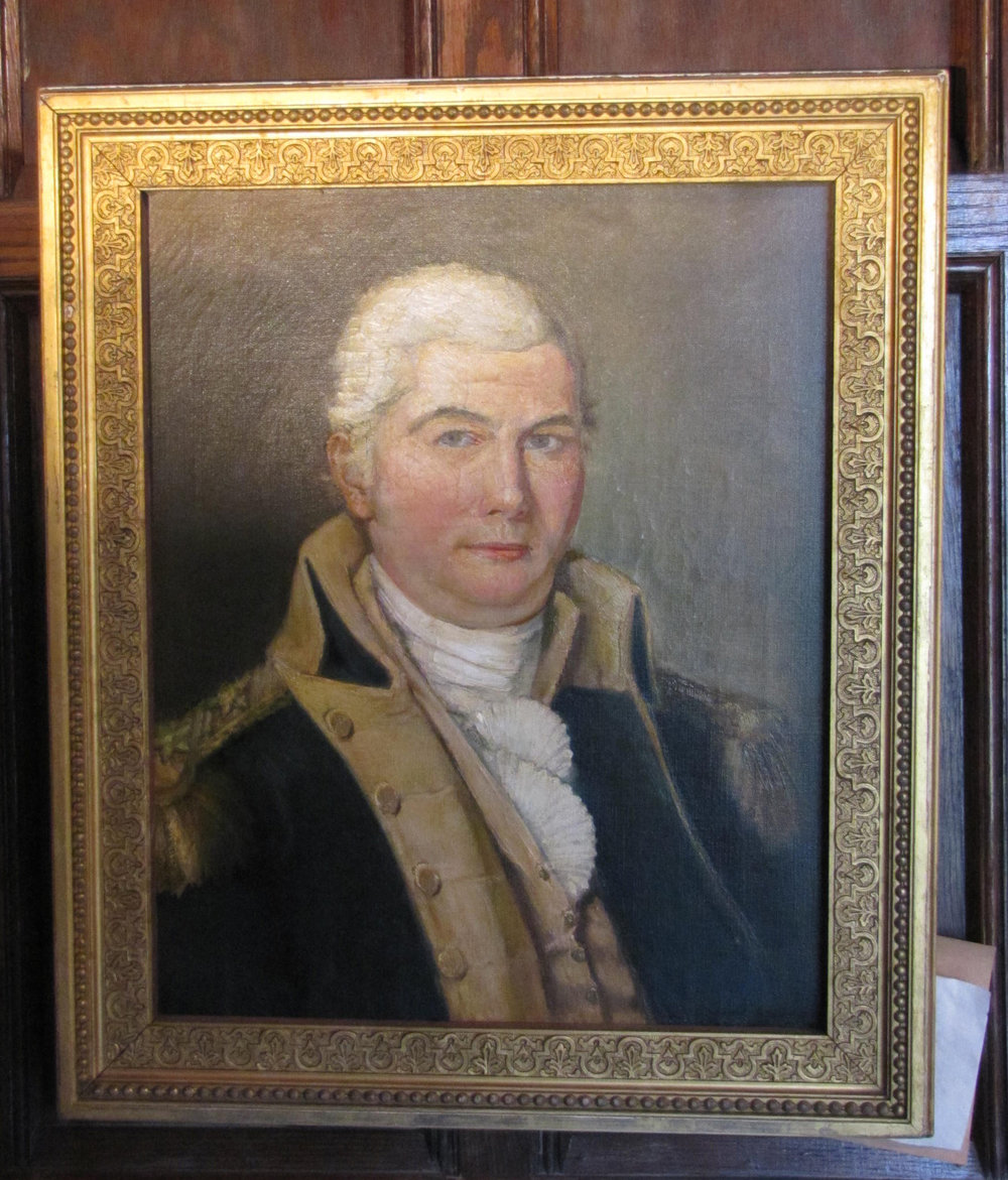 Portrait of General Ebenezer Mead (b. Dec 12, 1748 in Greenwich, CT, died 1818.) Received Major General's commission in 1801. Brother of Enoch Mead.