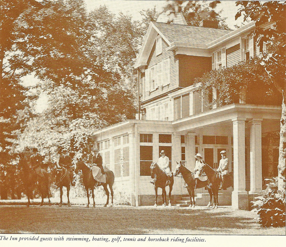 Early 1900s. The inn provided guests with swimming, boating, golfing, tennis, and horseback riding facilities