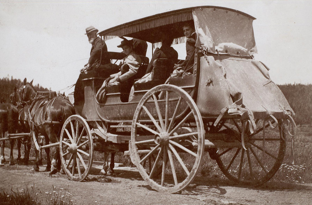George W. Mead driving the stage coach