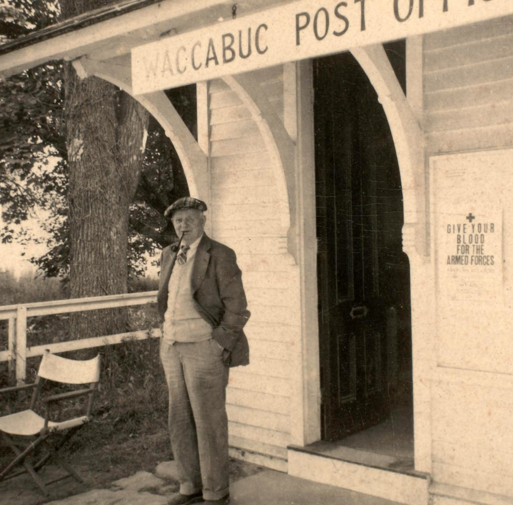 Postmaster Jock Gullen, early 1940s. He was a Scotsman who was also a former golf pro at the Waccabuc Country Club.