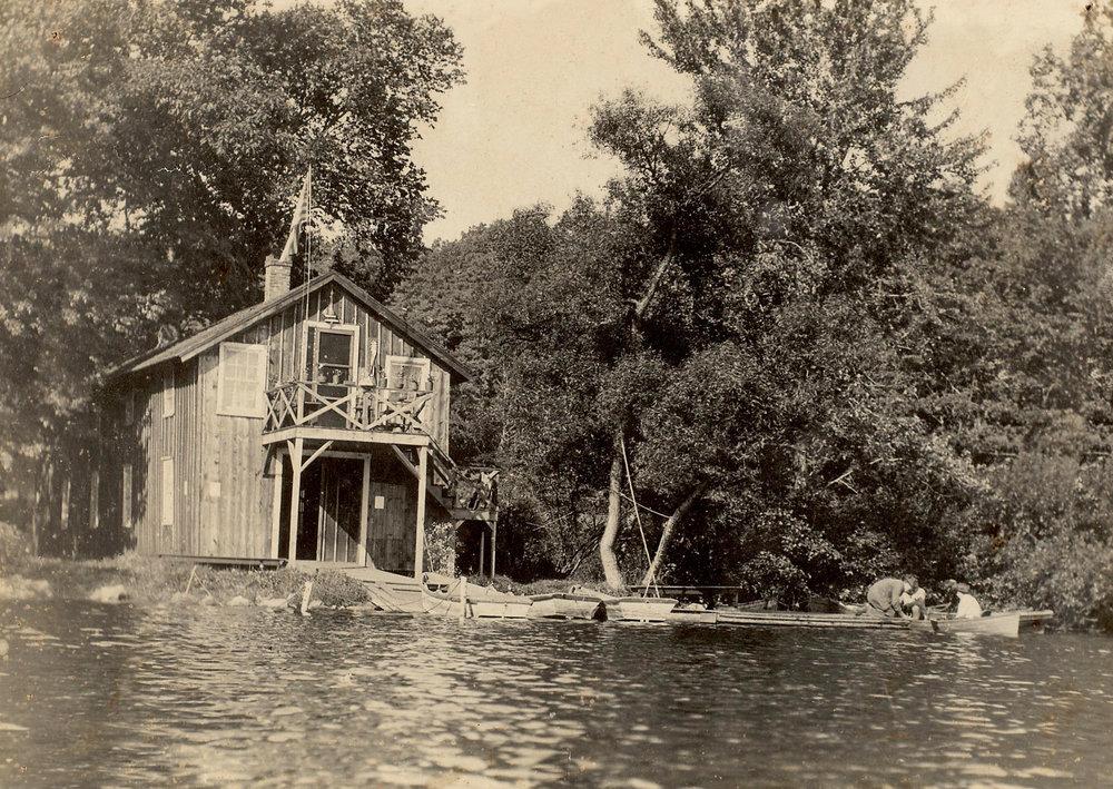 Back of the boat house on Lake Waccabuc