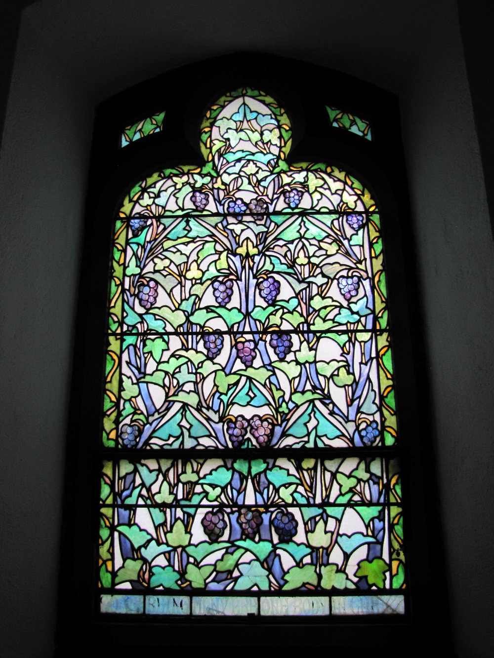 One of the chancel stained glass windows