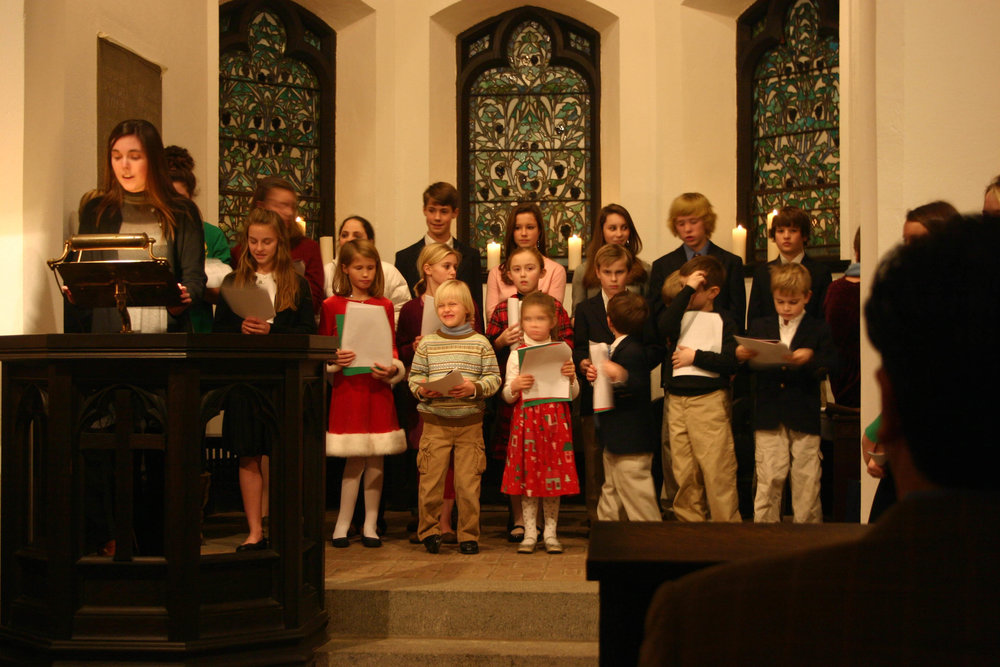Children's choir for Christmas Eve carol service