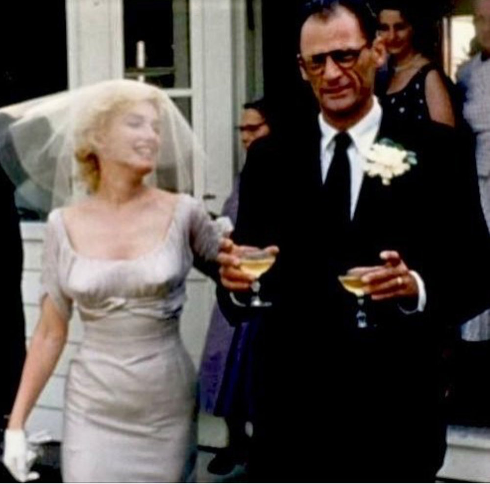 The wedding of Marily Monroe and Arthur Miller at the East Ridge Road home of his literary agent