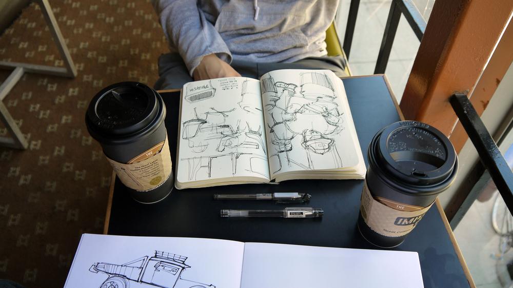 Sketching with the legendary Alex Fischer.