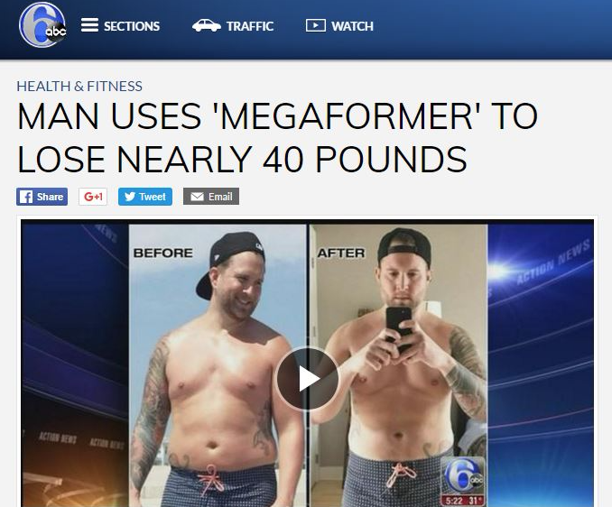 Man Uses 'Megaformer' To Lose Nearly 40 LBS - Read More