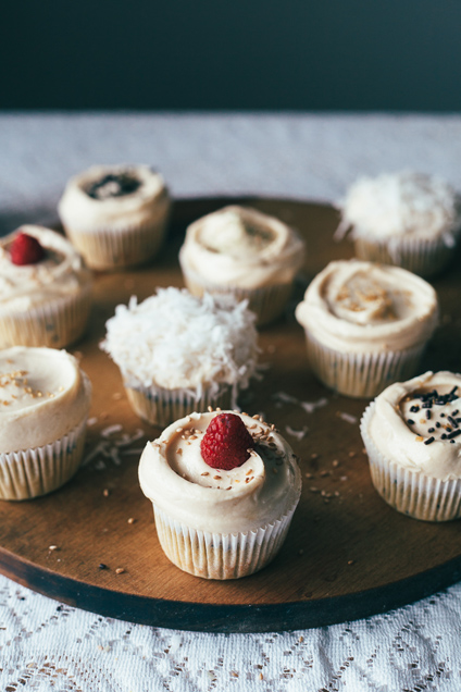 guest post by @yehmolly sesame cupcakes with tahini frosting