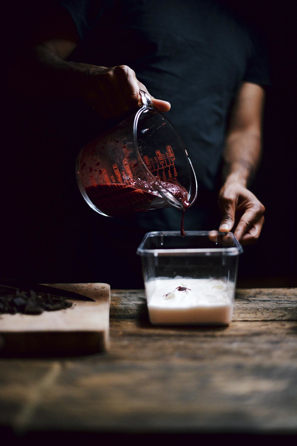 cherry labneh kefir ice cream | A Brown Table