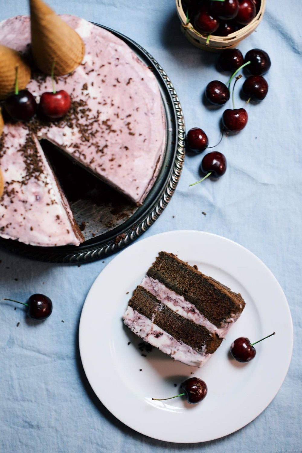 black forest ice cream cake | A Brown Table