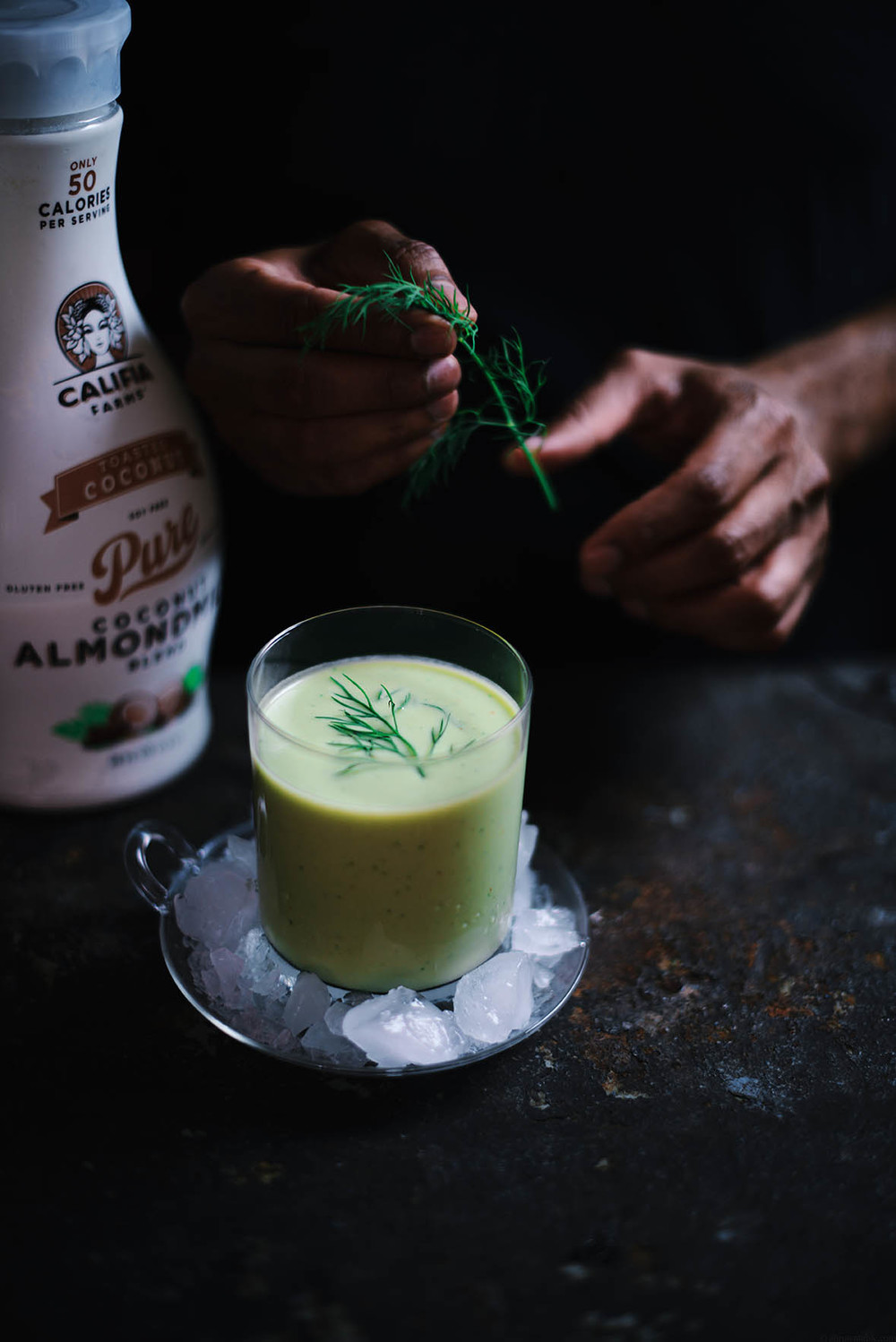chilled avocado and lime soup | A Brown Table