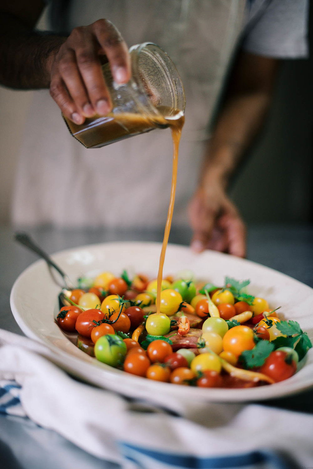 summer tomato salad with sweet tamarind dressing | A Brown Table