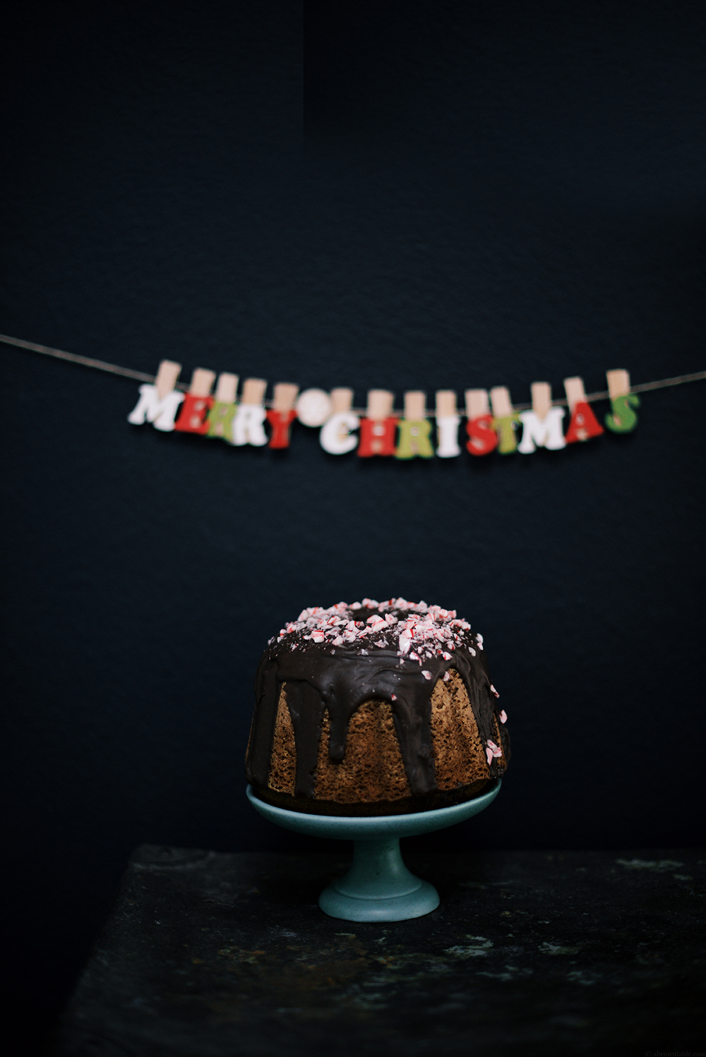 peppermint mocha bundt cake (butter free) | A Brown Table