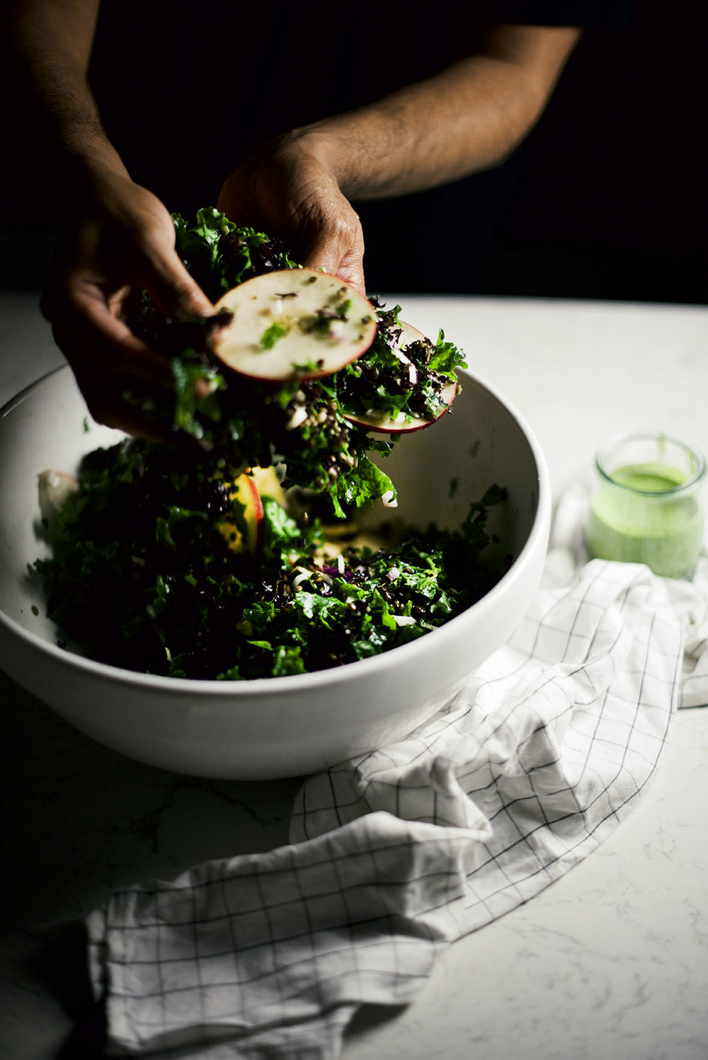 winter black lentil salad with spicy cilantro dressing | A Brown Table
