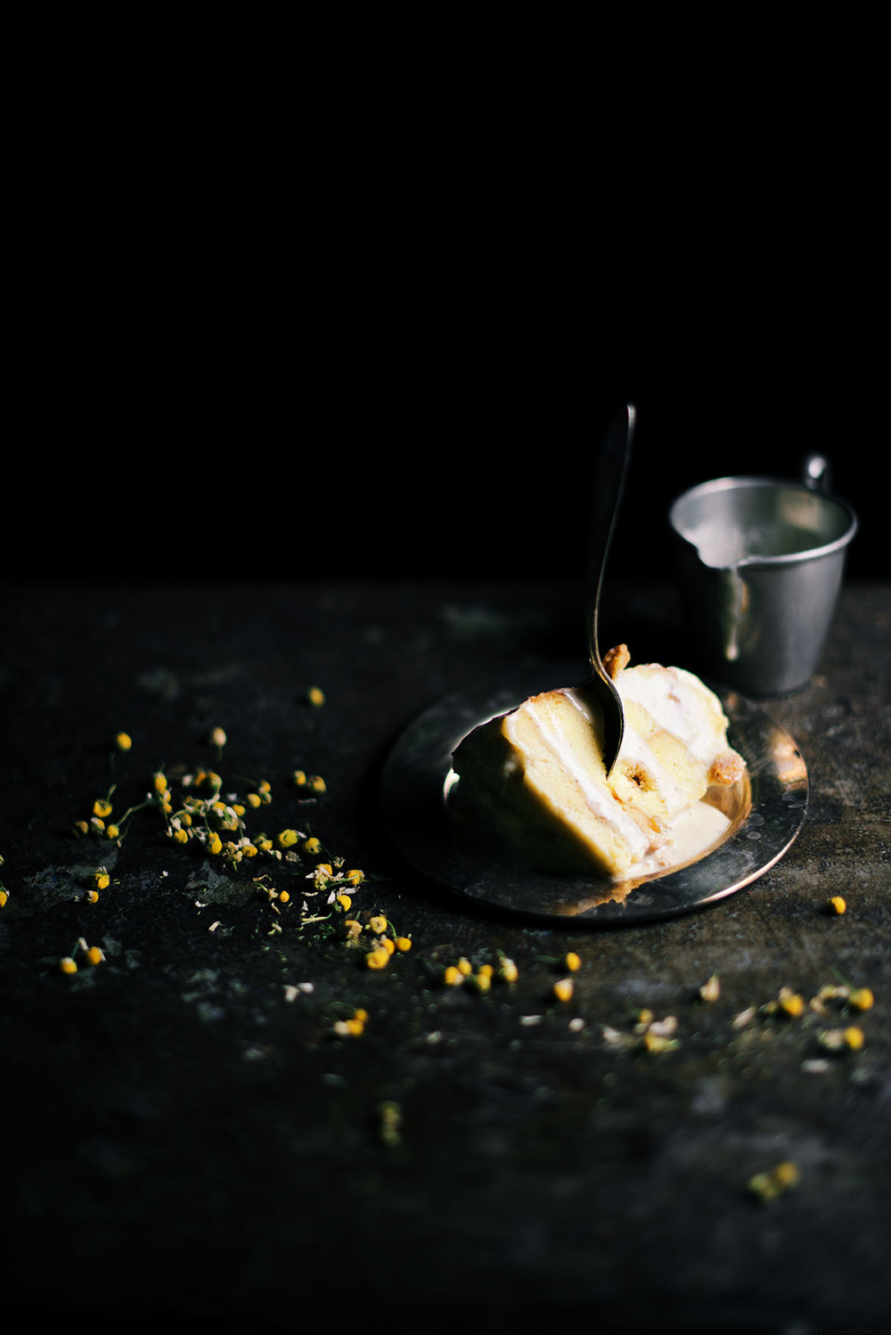 chamomile and long black pepper steamed bread pudding | A Brown Table