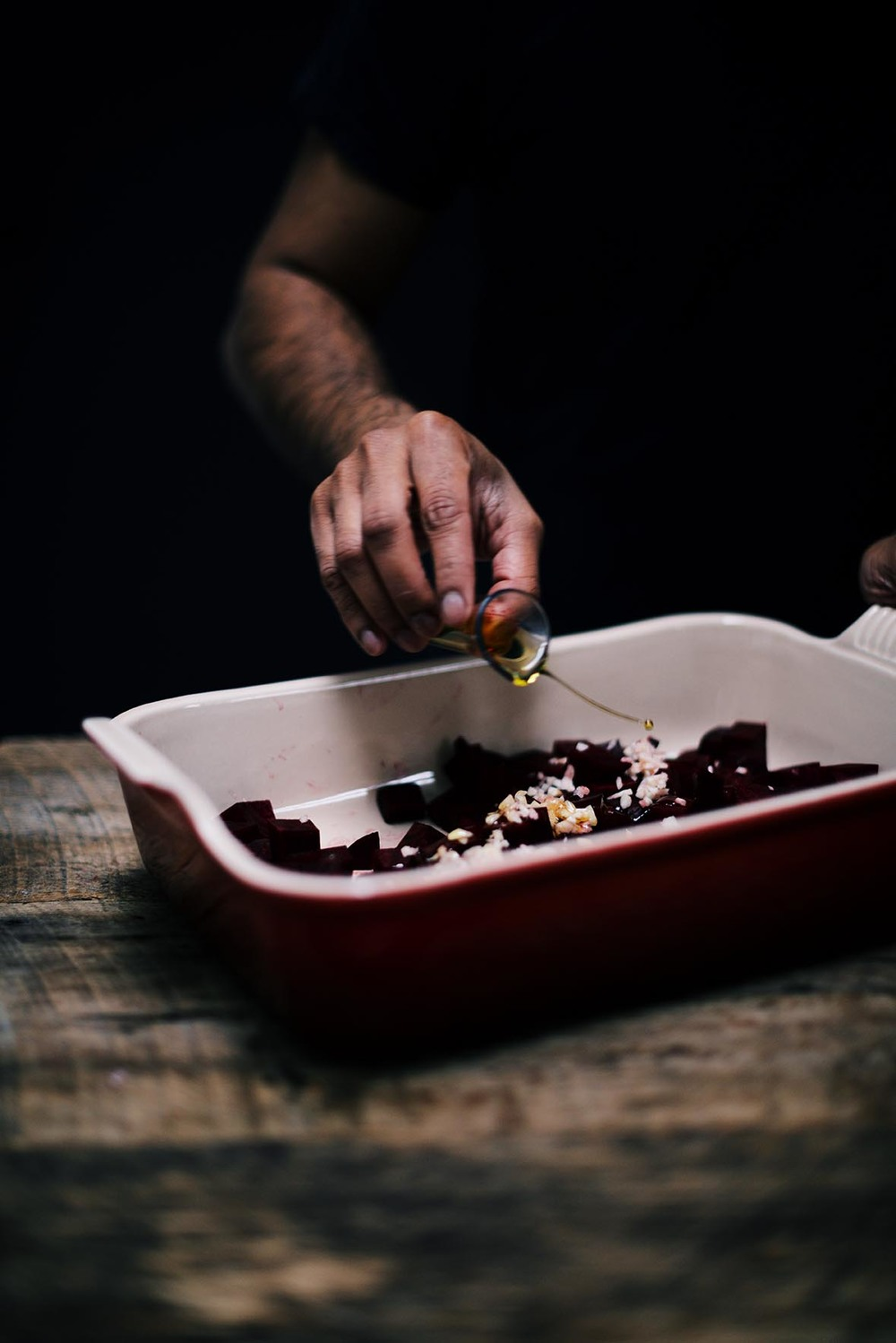 savory oatmeal, hemp hearts with garlic roasted beets | A Brown Table