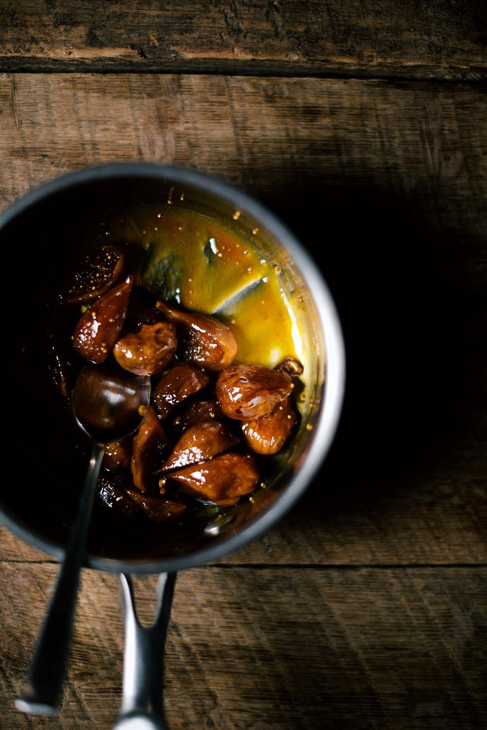 caramelized figs with sweet grits | A Brown Table