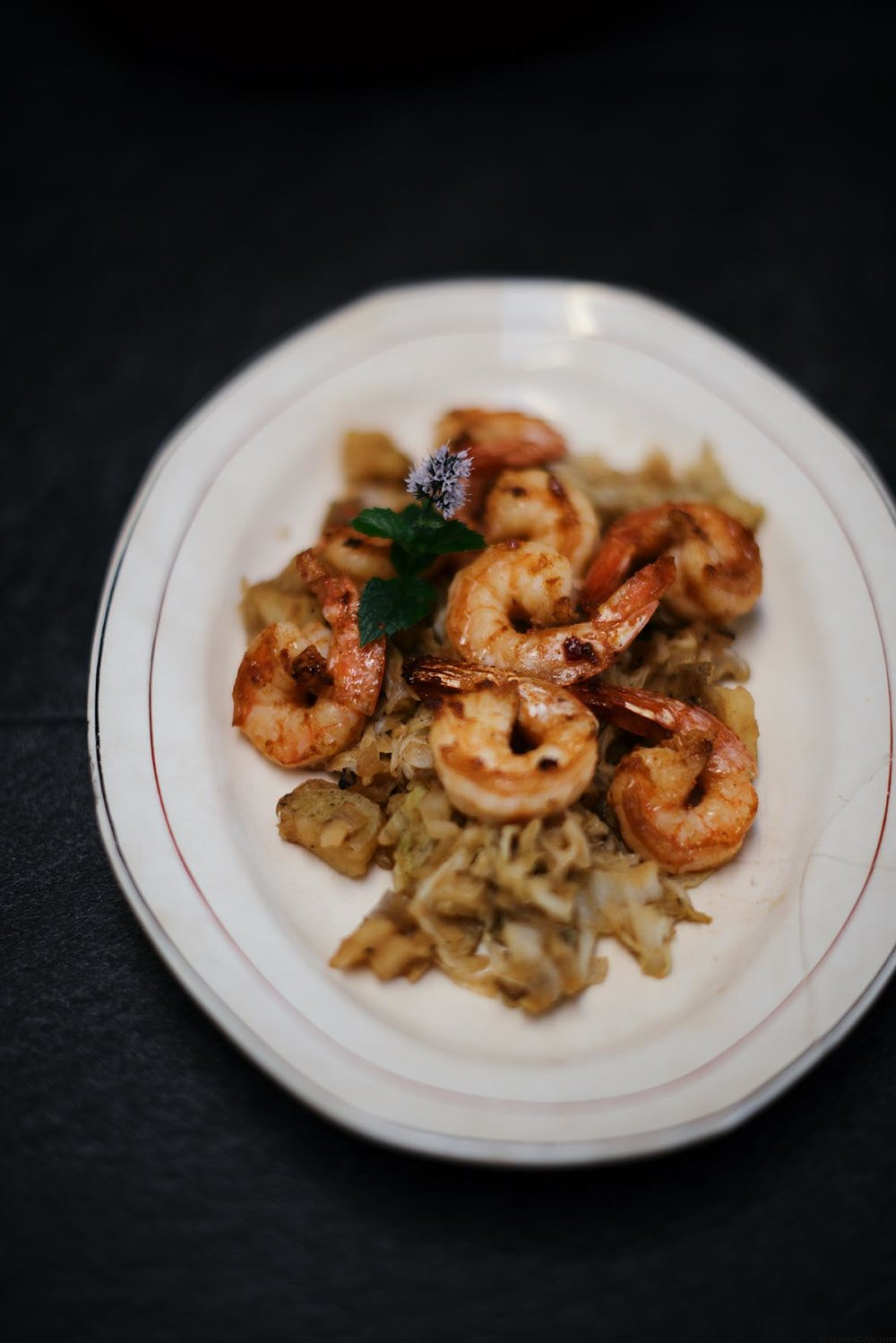 shrimp samba with 20 garlic clovesl | A Brown Table
