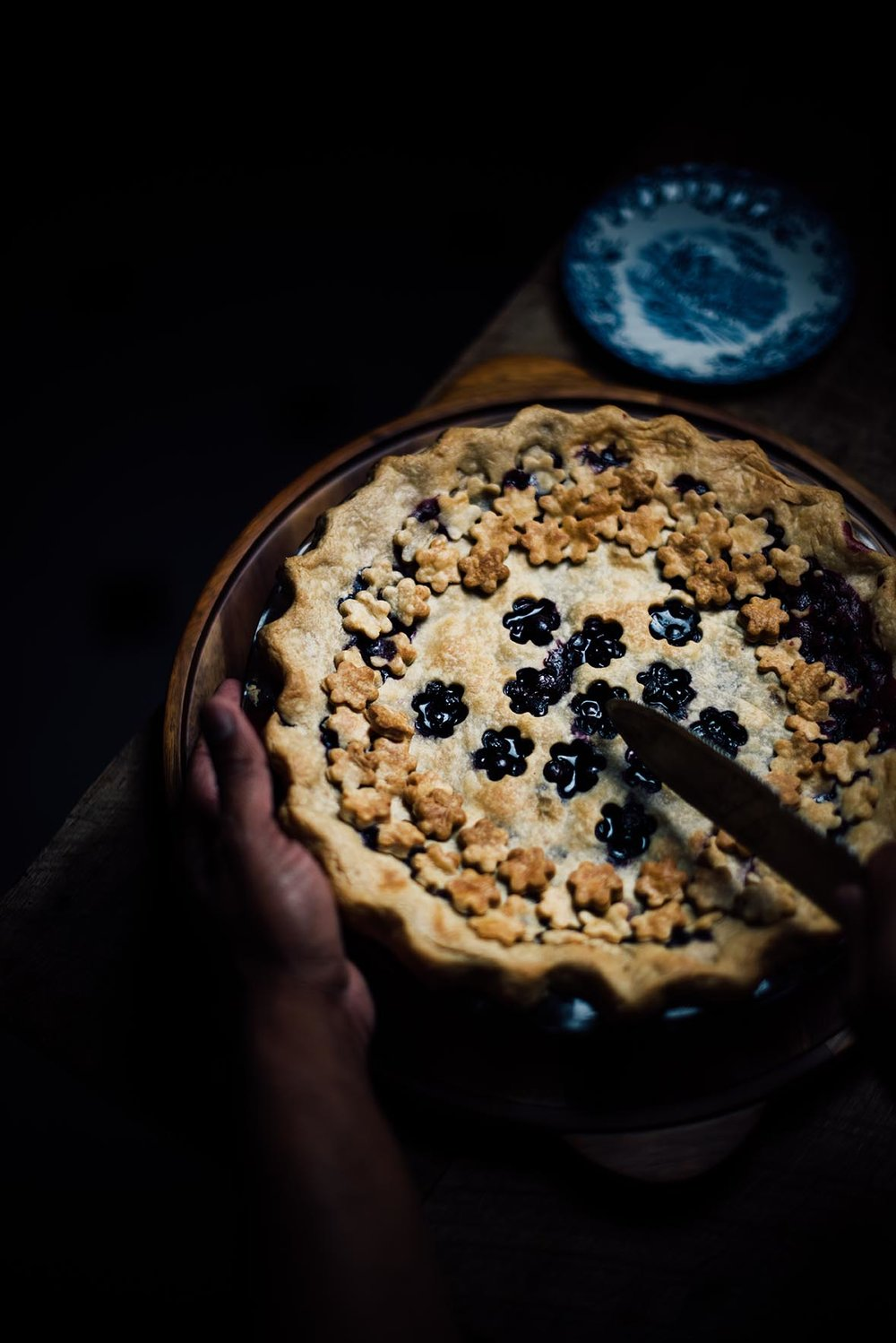 blueberry and passion fruit pie |A Brown Table