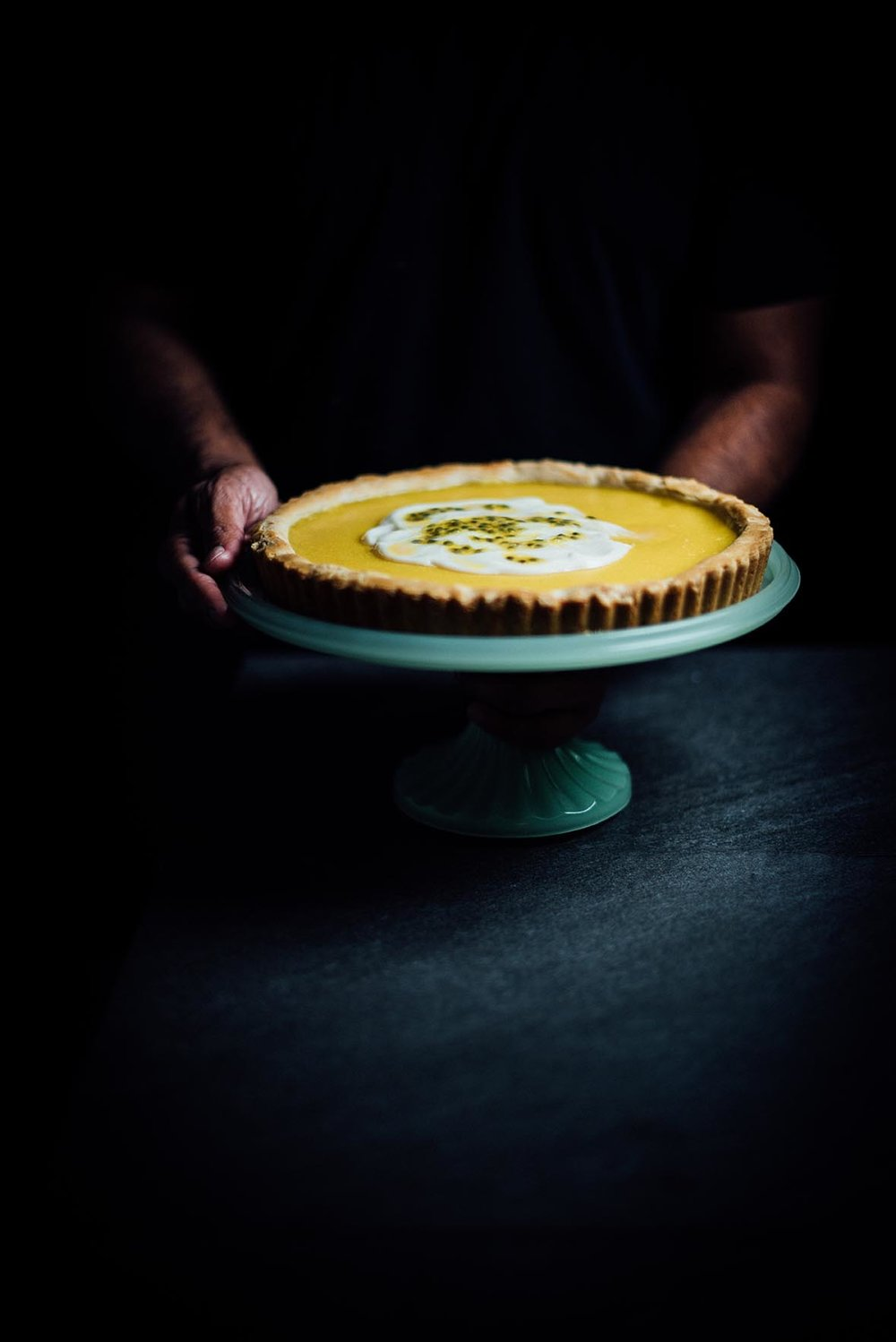 passion fruit ginger tart |A Brown Table