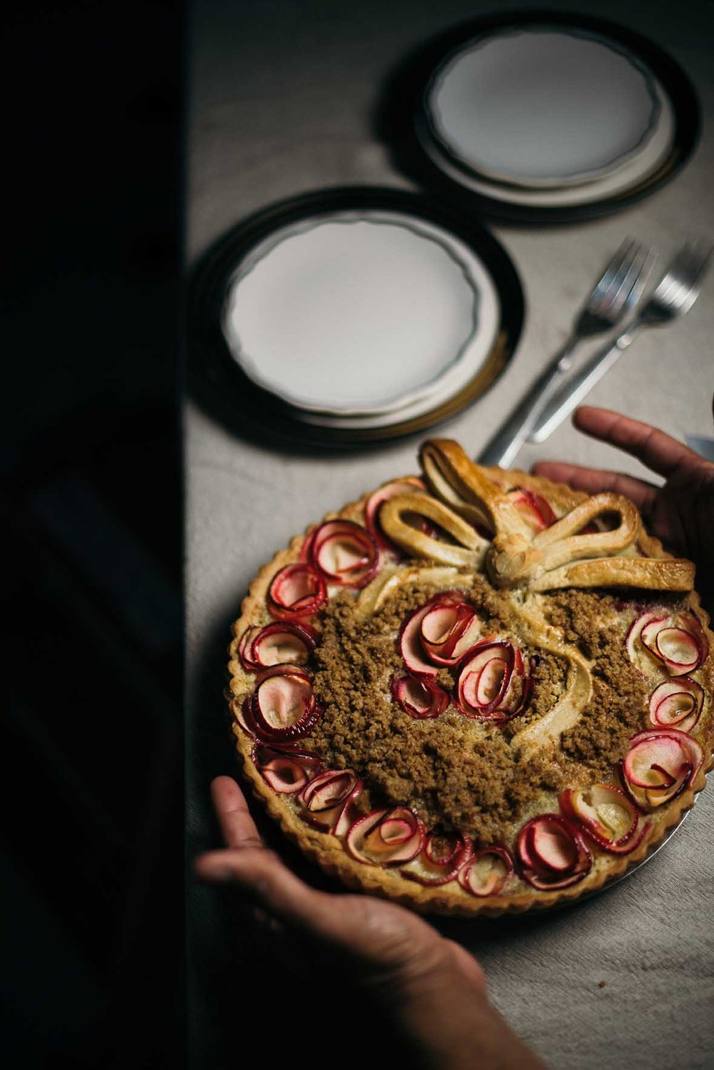 irvin's spiced brown butter apple rose tart|A Brown Table