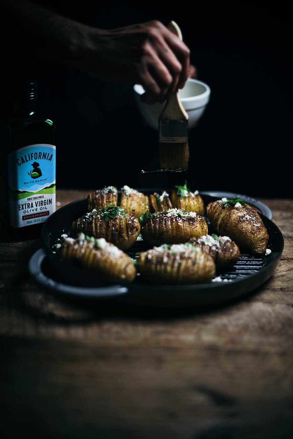 hasselback potatoes with garam masala and cotija |A Brown Table