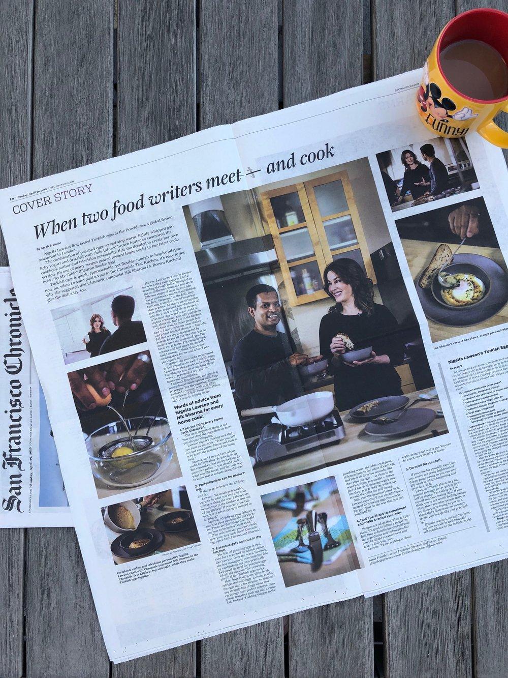 Nigella Lawson and Turkish Eggs for SF Chronicle | Nik Sharma