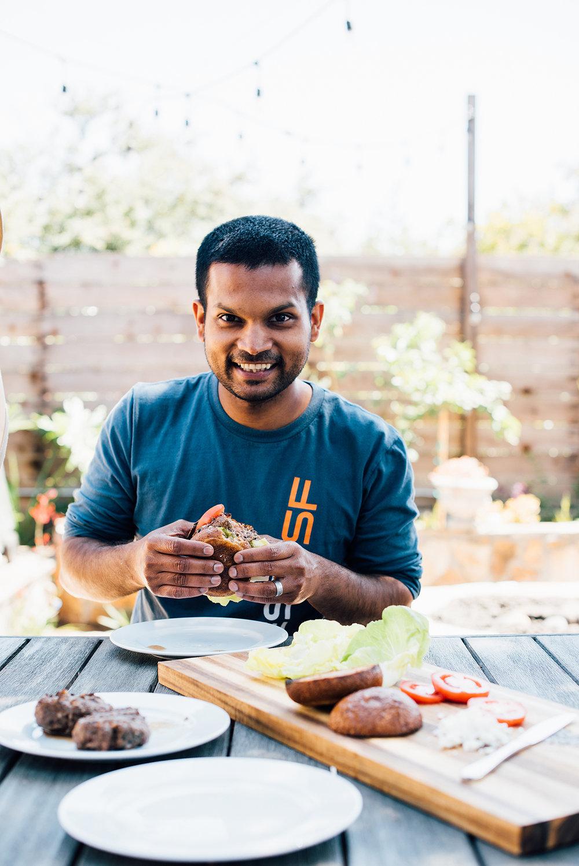 mint and garam masala burgers | Nik Sharma