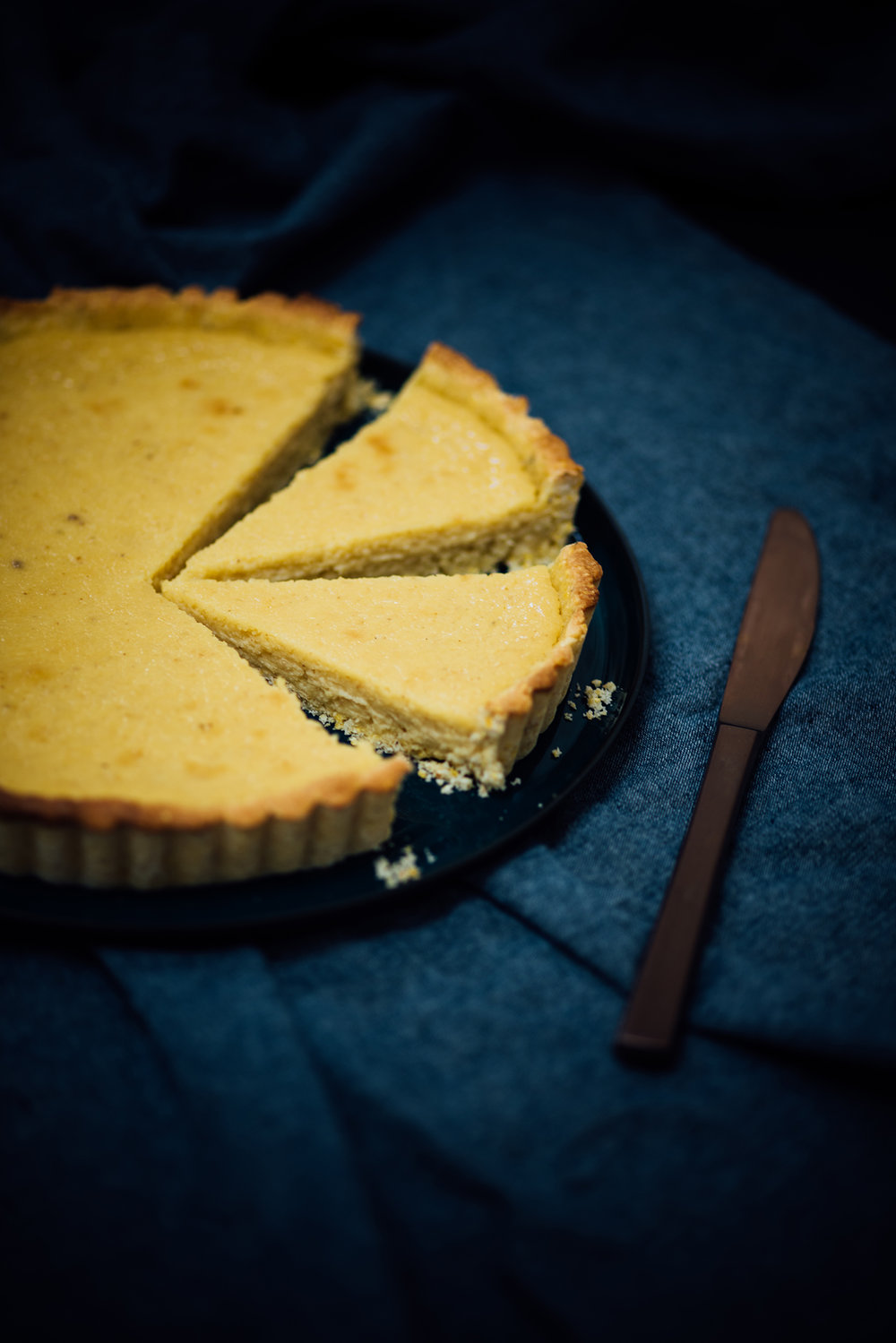 roasted summer sweet corn custard tart for SF Chronicle | Nik Sharma