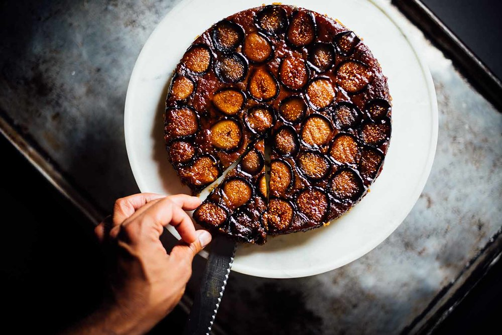 upside_down_fig_cake_ghee_cardamom for SF Chronicle|Nik Sharma