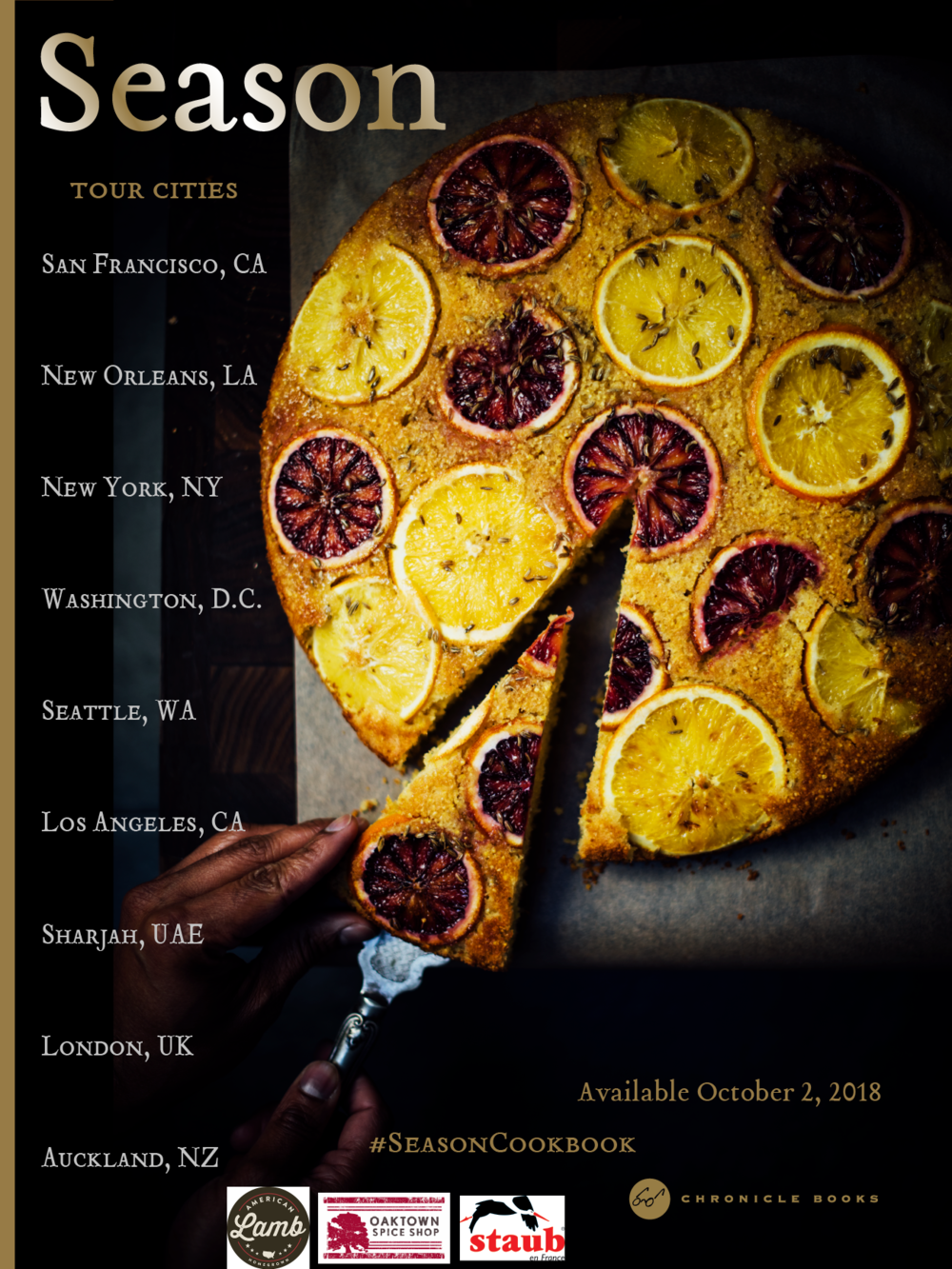 Season Cookbook Tour (Chronicle Books Oct 2, 2018)