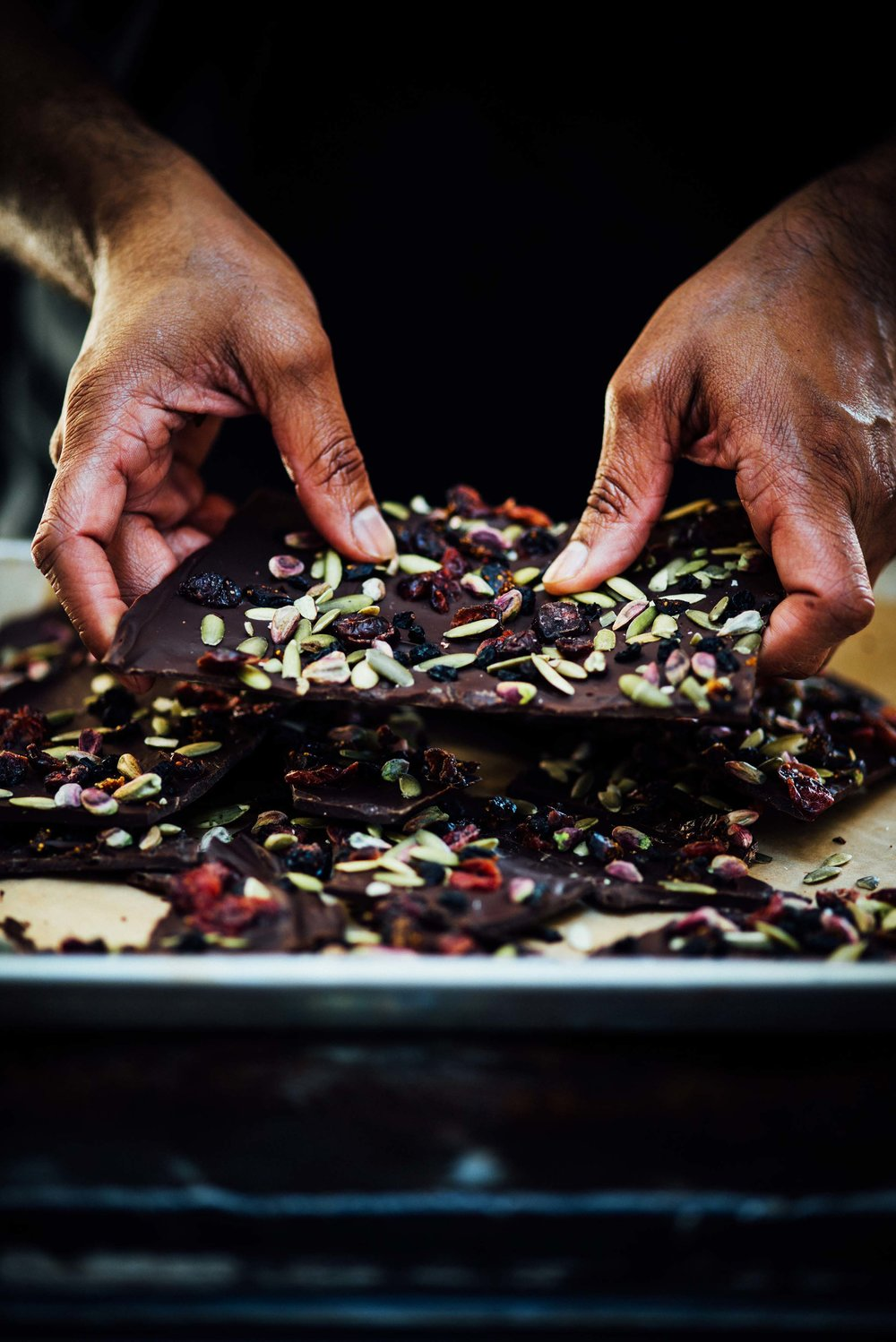 Christmas Bark with Pepper and dried fruit and nuts | Nik Sharma for SF Chronicle